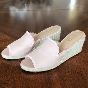 NEW Lauren Ralph Lauren pink espadrille wedge 8.5